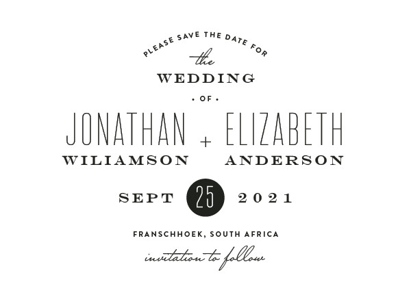 'Formal Plain (Crystal)' Save-the-Dates
