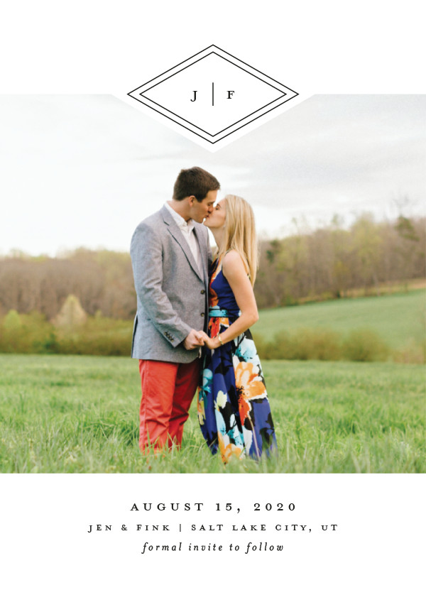 'Looking Sharp (Cotton)' Save the Date Card