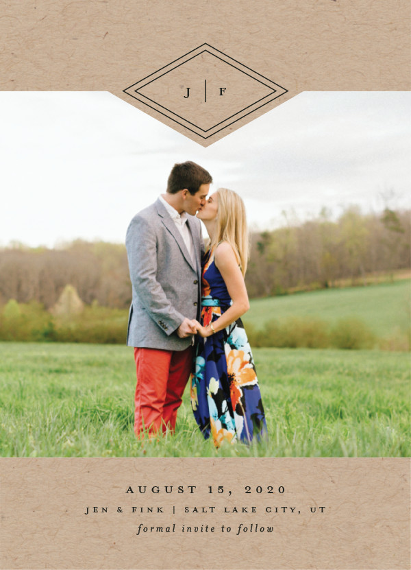 'Looking Sharp (Kraft)' Save-the-Dates