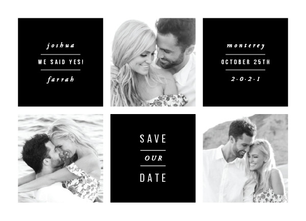 'Charming (Obsidian)' Save the Date Card