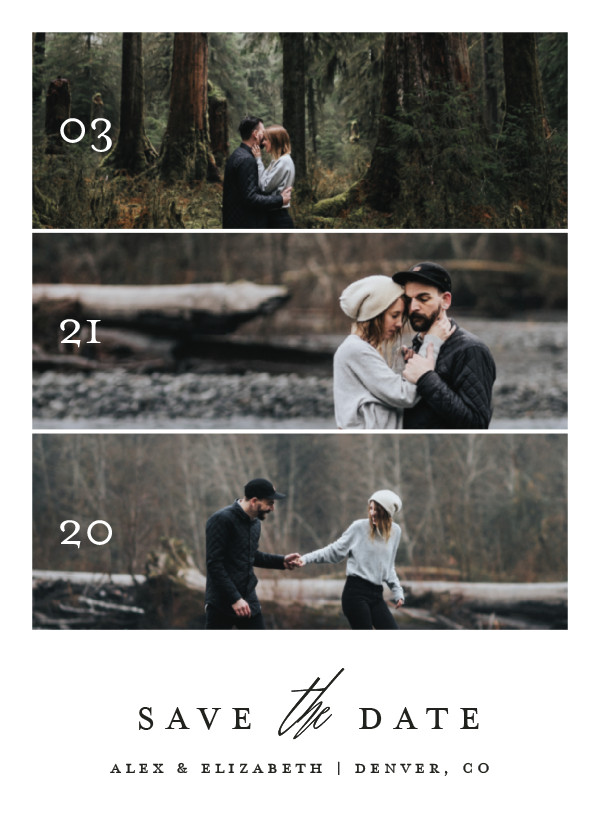 'Triptych Love (Silk)' Wedding Save the Date