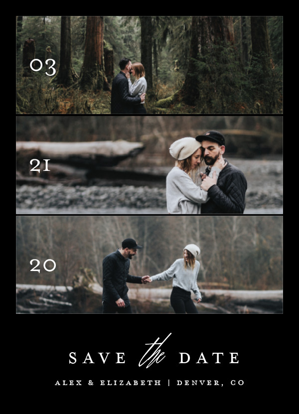 'Triptych Love (Jet Black)' Save-the-Dates