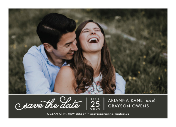 'Sweet & Modern (Graphite)' Save-the-Dates