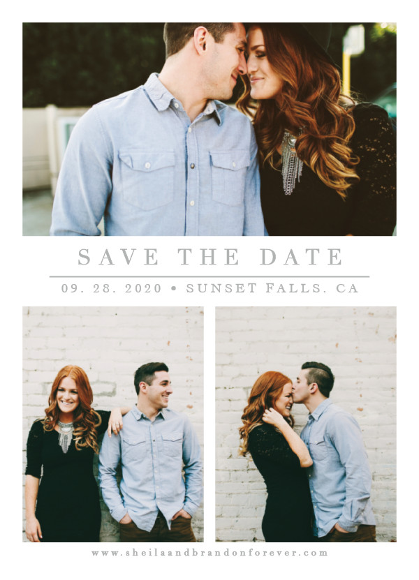 'The Simple Things (Cement)' Wedding Save the Date