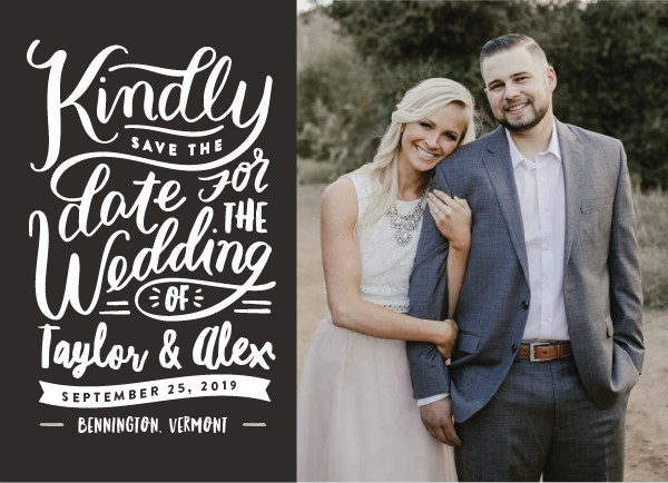 'Handlettered Love (Stone)' Save-the-Dates