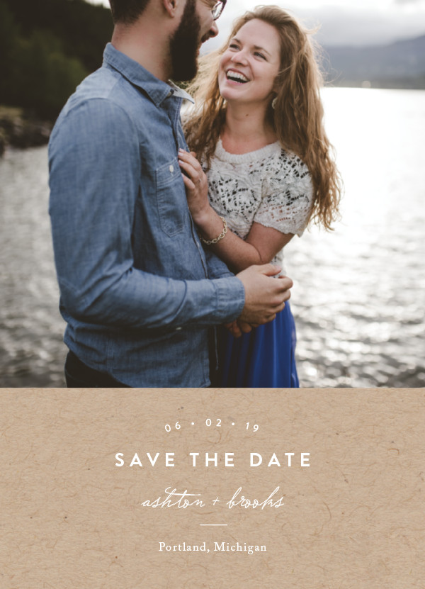 'This Modern Love (Kraft)' Brown Save the Dates