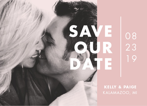 'Color Me Married (Dusted)' Save the Dates