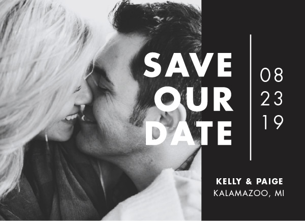 'Color Me Married (Wasted)' Save the Date Card