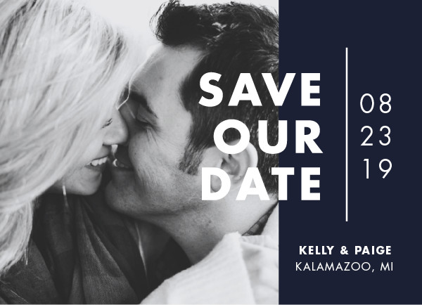 'Color Me Married (Waves)' Save-the-Dates