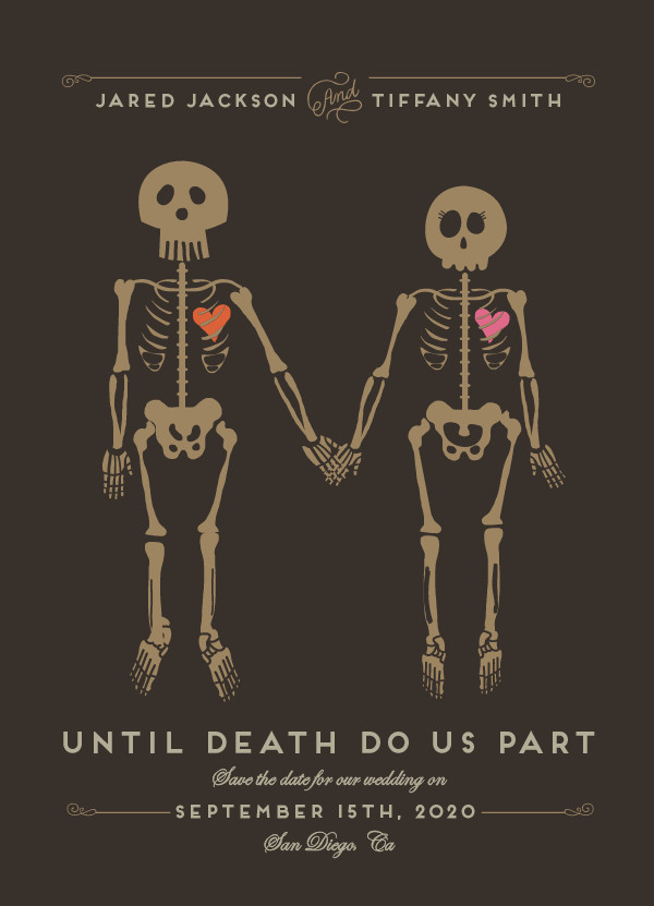 'Until Death (Golden)' Save the Date Card