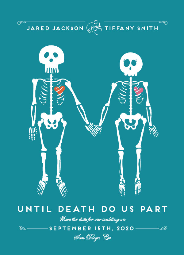 'Until Death (Teal)' Funny Save the Dates