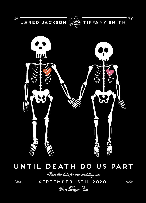 'Until Death (Noir)' Save-the-Dates