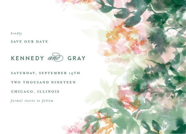 'Water Garden (Grass)' Save-the-Dates