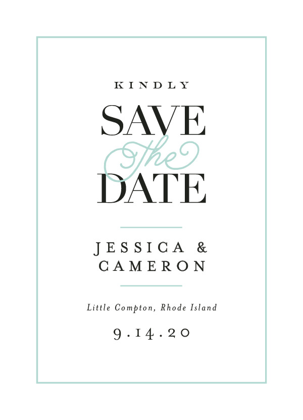 'Ivory Details (Seafoam)' Save-the-Dates