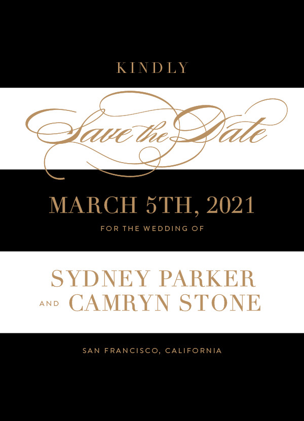 'Fashion District (Black Tie)' Save the Dates