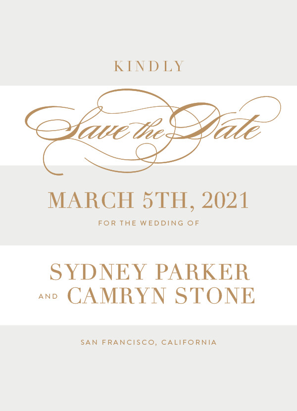 'Fashion District (Marble)' Silver Save the Dates