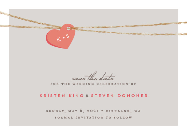 'Tangled Love (Petal)' Monogram Save the Dates