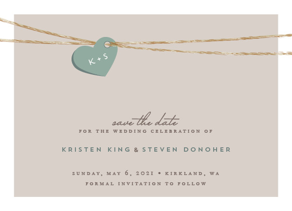 'Tangled Love (Fern)' Wedding Save the Date
