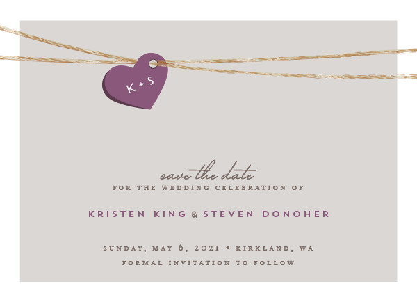 'Tangled Love (Eggplant)' Save-the-Dates
