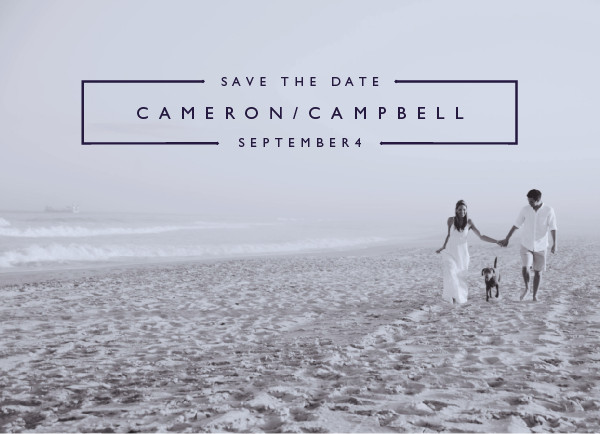 'Mag Spread (Indigo)' Save the Date Card