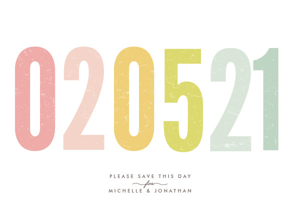 'Ice Cream Parlour Pastels (Pastel)' Save-the-Date