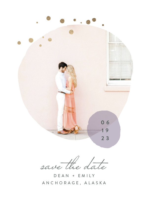 ' (Lavender)' Save the Date Card