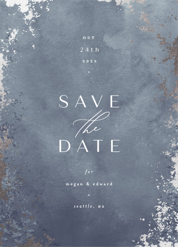 ' (Storm)' Save the Date Card