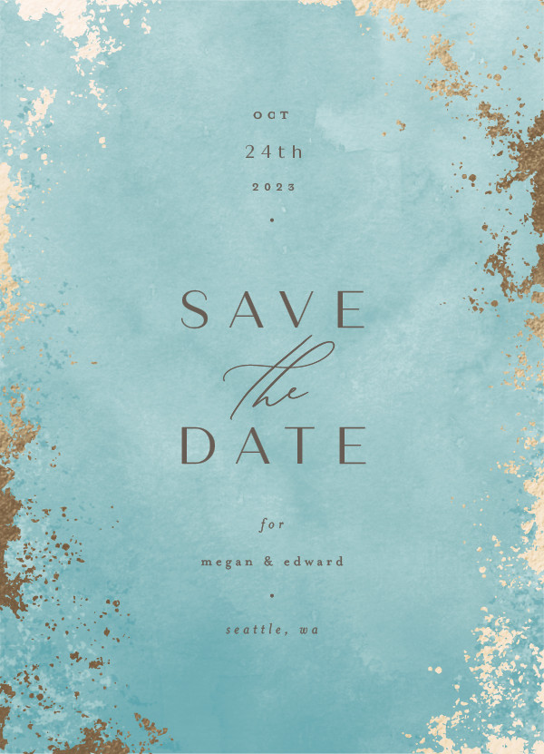 ' (Ocean)' Wedding Save the Date