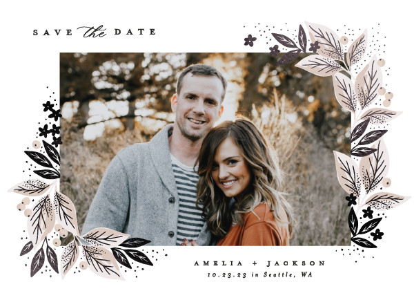 ' (Powder)' Save the Date Card