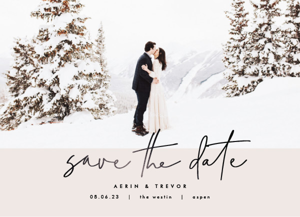 ' (Ivory)' Save the Dates