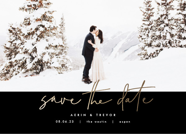 ' (Noir)' Save the Date Card