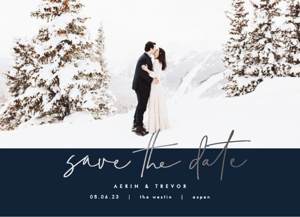 ' (Navy)' Winter Save the Dates