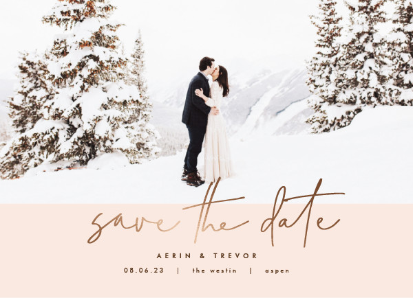 ' (Sand)' Wedding Save the Date