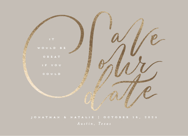 ' (Latte)' Save the Dates