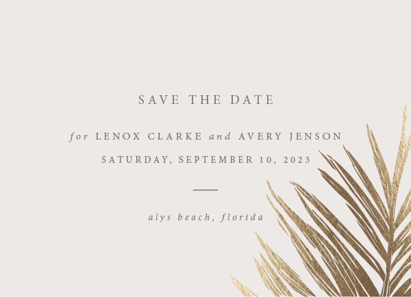 ' (Sand)' Save-the-Dates