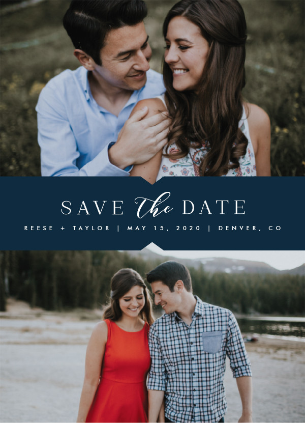 'Liebe (Navy)' Save-the-Dates