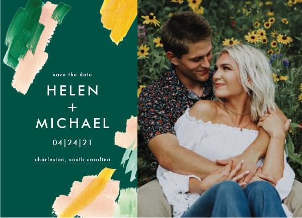 'Hamptons (Emerald)' Green Save the Dates