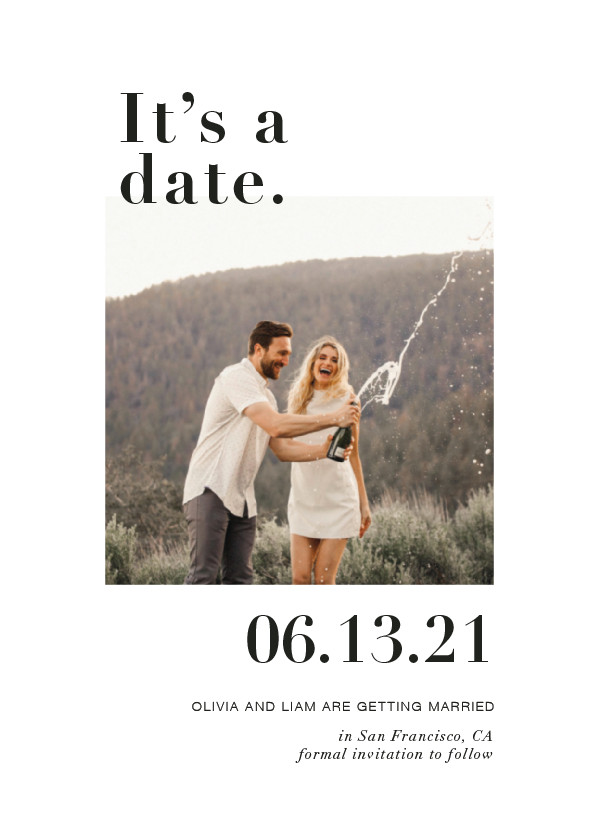 'It's A Date! (Onyx)' Save the Dates